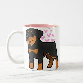 Rottweiler Love Two-Tone Coffee Mug
