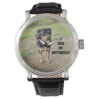 rottweiler love w pic tan watch