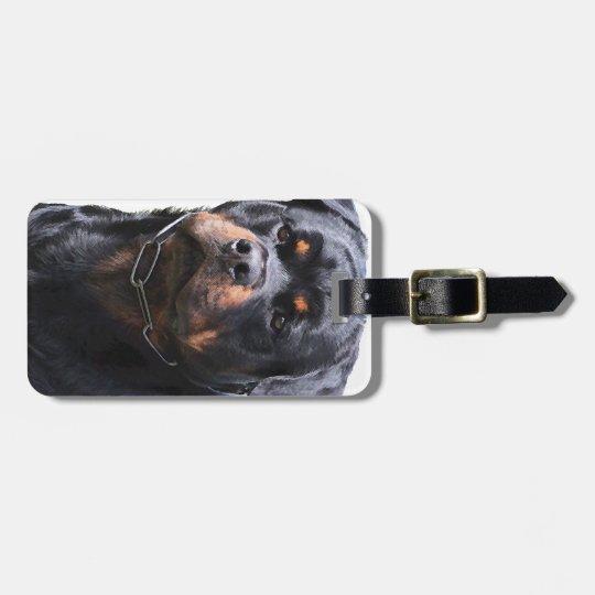 Rottweiler Luggage Tag