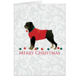 Rottweiler Merry Christmas Design Greeting Card