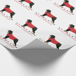 Rottweiler Merry Christmas Design Wrapping Paper