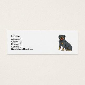 Rottweiler Mini Business Card