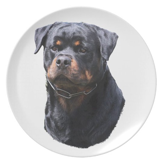 Rottweiler Party Plates