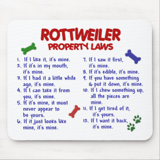 ROTTWEILER Property Laws 2 Mousemats