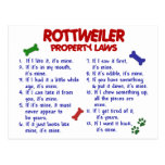 ROTTWEILER Property Laws 2 Post Cards