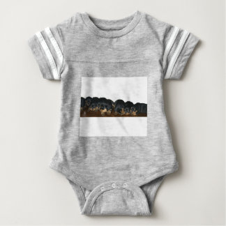 Rottweiler Puppies Baby Bodysuit