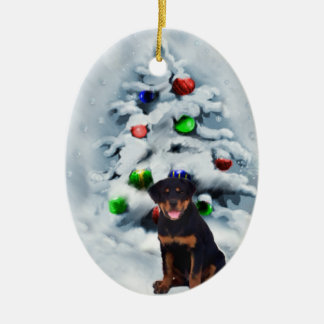Rottweiler Puppy Christmas Gifts Ornaments