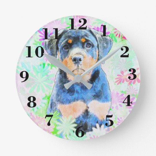 Rottweiler Puppy Clocks