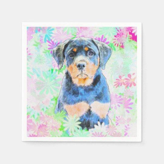 Rottweiler Puppy Disposable Serviette