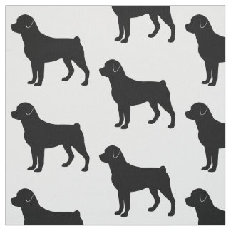 Rottweiler Puppy in Silhouette Fabric