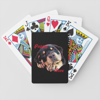 Rottweiler Puppy Love Rott Dog Canine German Breed Bicycle Playing Cards