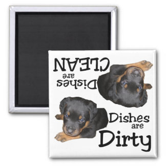 Rottweiler Puppy Lovers Dishwasher Magnet