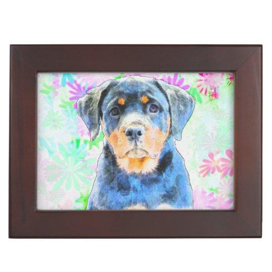 Rottweiler Puppy Memory Box