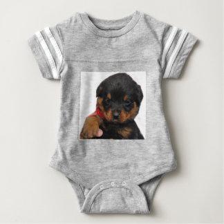 Rottweiler Puppy Red Baby Bodysuit