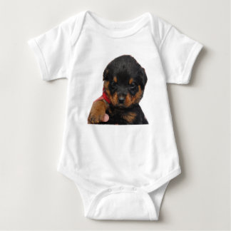 Rottweiler Puppy Red Baby Bodysuit
