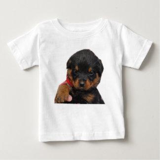Rottweiler Puppy Red Baby T-Shirt