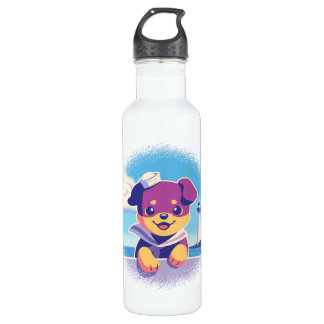 Rottweiler Puppy Sea Dog Sailor 710 Ml Water Bottle