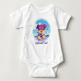 Rottweiler Puppy Sea Dog Sailor Baby Bodysuit