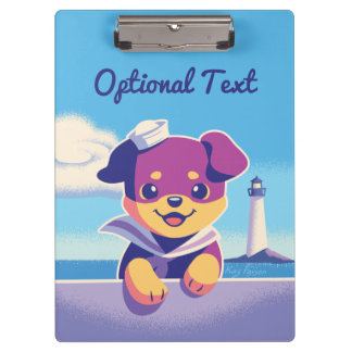 Rottweiler Puppy Sea Dog Sailor Clipboard