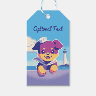 Rottweiler Puppy Sea Dog Sailor Gift Tags