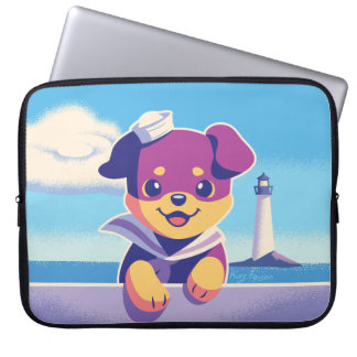 Rottweiler Puppy Sea Dog Sailor Laptop Sleeve