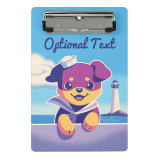 Rottweiler Puppy Sea Dog Sailor Mini Clipboard