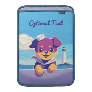 Rottweiler Puppy Sea Dog Sailor Sleeve For MacBook Air