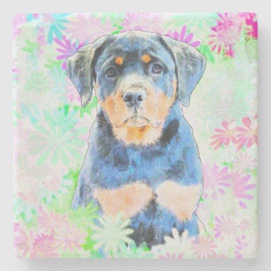 Rottweiler Puppy Stone Coaster