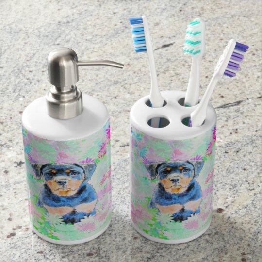 Rottweiler Puppy Toothbrush Holders