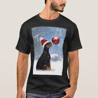 Rottweiler Puppy Winter T Shirt For Men - Rottweil