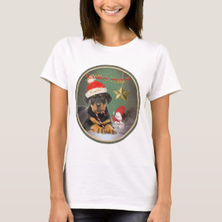 Rottweiler Puppy Xmas Design  Women's Top