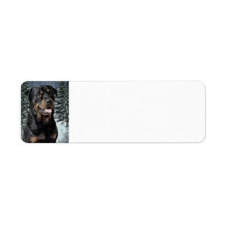 Rottweiler Return Address Label