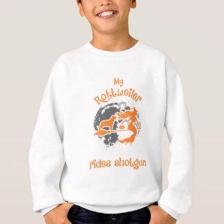 Rottweiler Rides Shotgun Halloween Tshirt