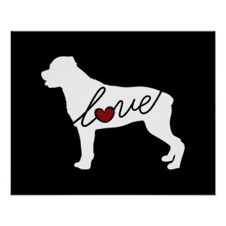 Rottweiler (Rottie) Love Poster