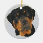 Rottweiler Round Ceramic Decoration