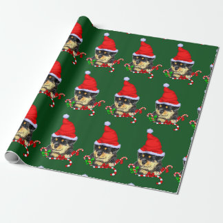 Rottweiler Santa Christmas Wrapping Paper