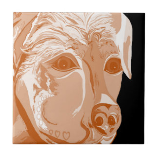 Rottweiler Sepia Tones Ceramic Tile