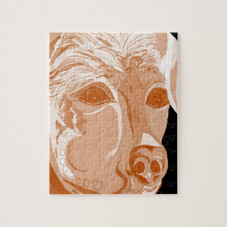 Rottweiler Sepia Tones Jigsaw Puzzle