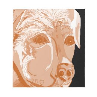 Rottweiler Sepia Tones Notepad