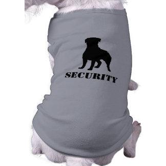 Rottweiler Silhouette with Text Sleeveless Dog Shirt