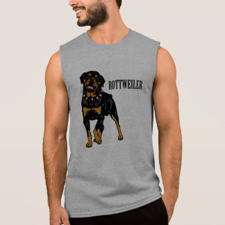 rottweiler sleeveless shirt
