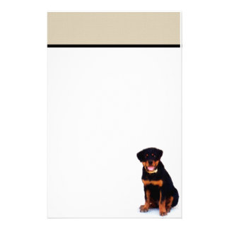 Rottweiler stationary personalized stationery