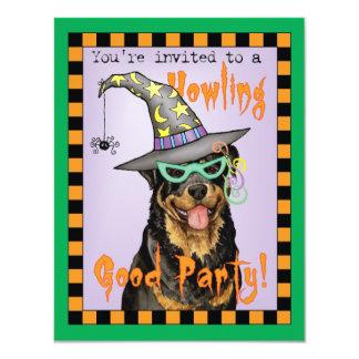 Rottweiler Witch 11 Cm X 14 Cm Invitation Card