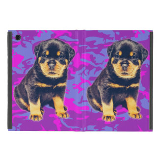 Rottweiler with Blue and Pink Camo Case For iPad Mini