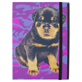 """Rottweiler with Blue and Pink Camo iPad Pro 12.9"""" Case"""