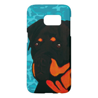 Rottweiler with Blue Camo
