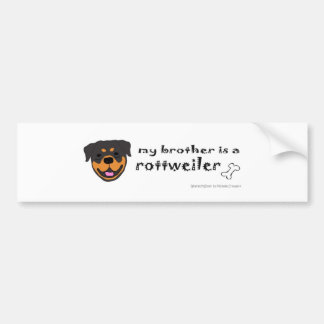 RottweilerBrother Bumper Sticker