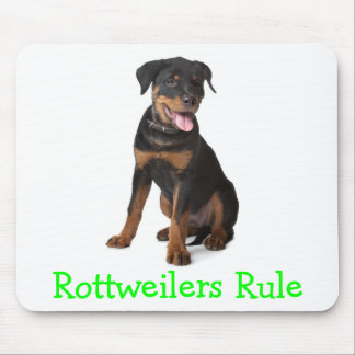 Rottweilers Rule Puppy Dog  Mousepad