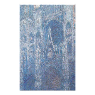Rouen Cathedral, Clear Day by Claude Monet Stationery