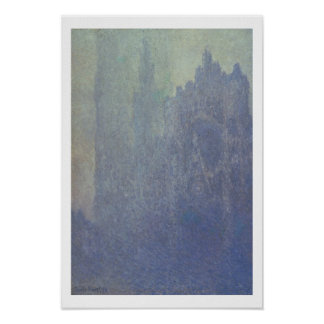Rouen Cathedral, Foggy Weather, 1894 (oil on canva Posters